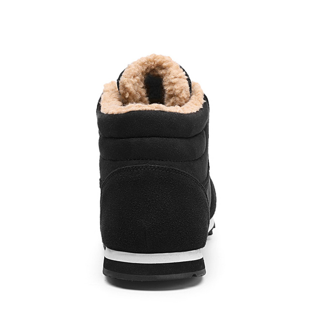 CcharmiX Big Size Men Shoes 2018 Top Fashion New Winter Casual Ankle Boots Warm Winter Fur Man Snow Boots Flock Leather Footwear 3