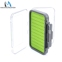Maximumcatch Fly Fishing Box Easy-grip Silicone Insert Tackle Boxes Double Side Clear Lid