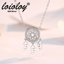 Loioloy Silver necklace 925  Micro CZ Dream Catcher Necklace Sterling Zircon For Women collares