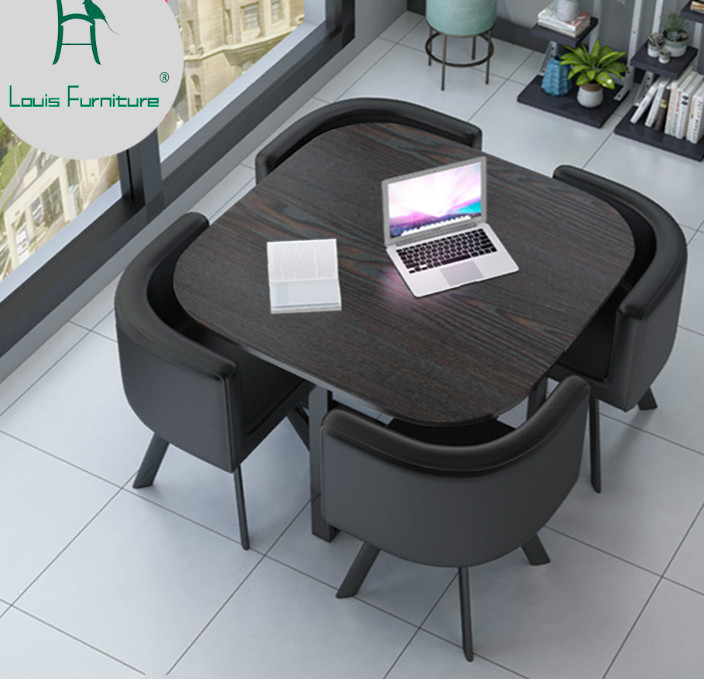 US $158.9 |Louis Fashion Office Furniture Sets Simple Modern Negotiating  Tables and Chairs Wait Minimalism Small sized on Aliexpress.com | Alibaba  ...