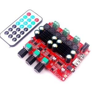 Image 4 - HiFi TPA3116D2 4.2 Bluetooth 2.1 ערוץ סטריאו דיגיטלי אודיו כוח סאב מגברי לוח 50W * 2 + 100W FM רדיו USB Mp3 לשחק