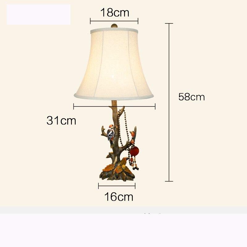 Американская Деревня Европейский Творческий дом украшения ретро смолы птица настольная лампа прикроватной тумбочке лампы abajour