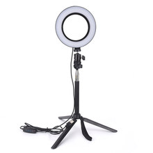 "GETTO 14.5 ""LED Anello di Luce Dimmerabile 3200 K-5500 K Anulare Make-up Lampada & Treppiede Per studio Fotografico Fotografia di Illuminazione(China)"