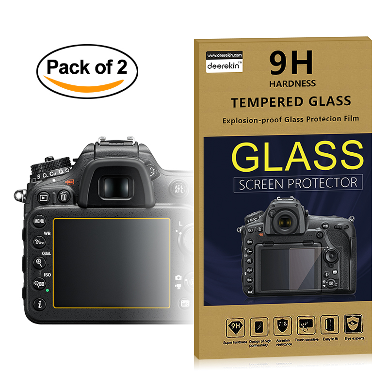 2x Self-Adhesive 0.3mm Glass LCD Screen Protector for Nikon D7500 D7200 D7100...