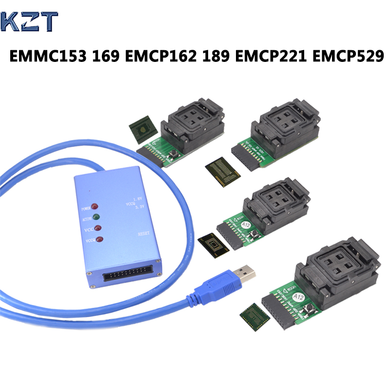 все цены на  EMMC153 169 EMCP162 189 EMCP221 EMCP529 socket 6 in 1 data recovery tools for android phone eMMC programmer Socket High Quality  онлайн