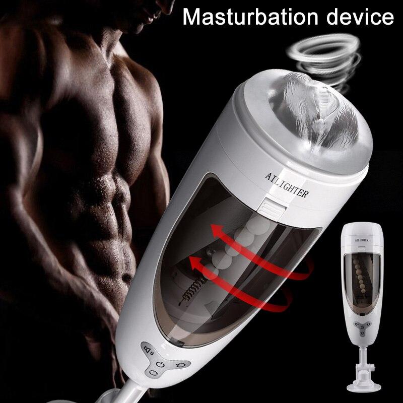 2019 Masturbation tasse avec ventouse USB Rechargeable automatique Rotation adulte jouet sexuel pour hommes DC88