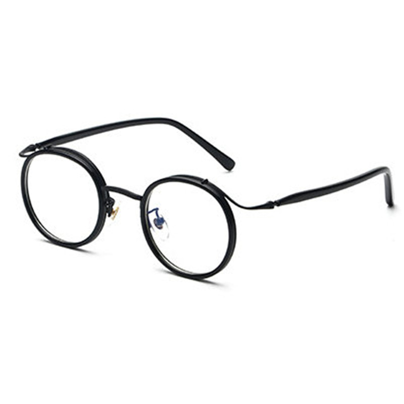 9c6b6af2997c MINCL  2017 new Men Women Designer TR90 Retro Round Metal Frame Glasses  Frames Myopia FML