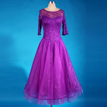 new lace pendulum ballroom dance dress Perspective long sleeve flamenco waltz tango ballroom dance competition dress practice