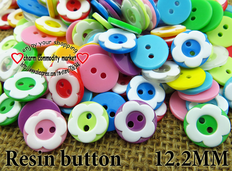 10 Mickey Mouse Rainbow Plastic Buttons// Four holes //Sewing supplies //10 Buttons