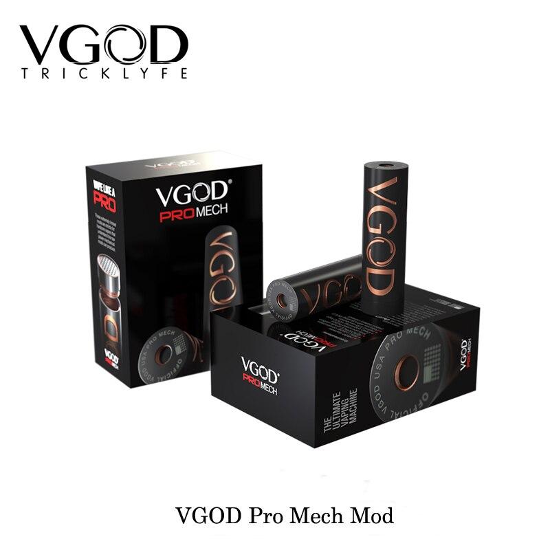 100% D'origine Vaporisateur VGOD Pro Mech Mod Hybride 510 Connexion Haute Qualité mécanique Mod USA mode Électronique Cigarettes VS SMOK