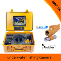 1 Set 100M Cable Underwater Fishing Camera HD 700TVL Night Version Plastic Box Waterproof Camera