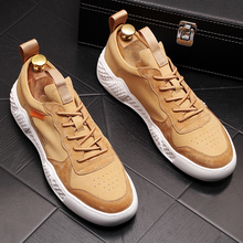 Genuine Leather Men's Shoes High Quality Men Sport Casual Shoes Fashion Lace Up Chunky Sneakers Men Flats Luxury Brand Design new 2016 high quality men genuine leather casual lace up shoes fashion flats luxury brand low top men shoes red white black
