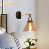Glass Wall lamp Vintage Industrial wall sconce Lights Retro wall lamps Loft light fixtures Metal Wall Light Christmas light
