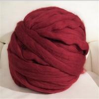 31.9USD 1000g/piece 21 microns Giant Yarn knitting wool extreme knitted merino wool DIY knit blanket super chunky wool yarn