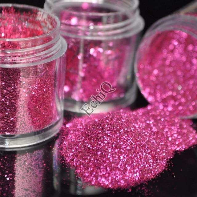 3D Shine Pure Hot Pink Nail Art DIY Decorations Beautiful Acrylic ...