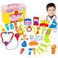 30 Pieces / set Pretend & Play Doctor Set with Stethoscope and Medical Doctor's Equipment Educational Toy