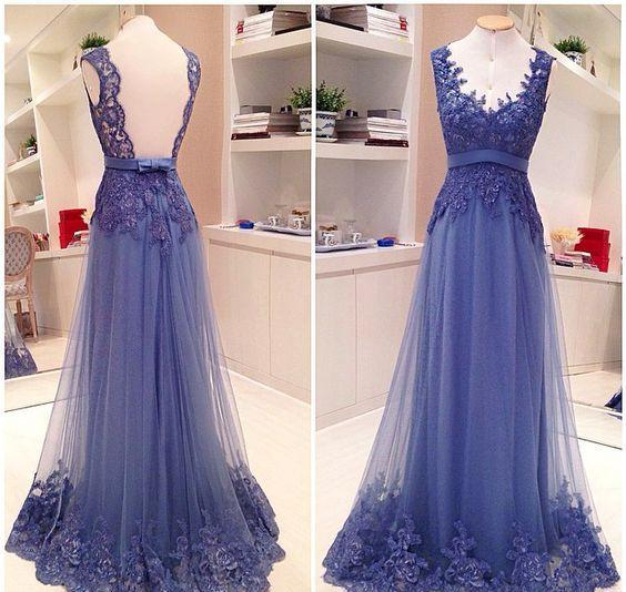 Lace Mother Of The Bride Dresse V-neck Blue Real Image Evening Party Gowns With Sash Long Elegant Fitted Special Occasion Dress