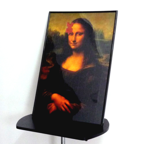 Mona Lisa 2 Smile Puzzle Photo Frame Deluxe Magic Puzzle Trick Magic Tricks Card magic props
