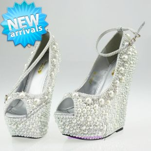 c3e30b6c2 Wedding Wedges formal wedding shoes White Wedding Wedge High Heel platform  Bridal wedge peep toe