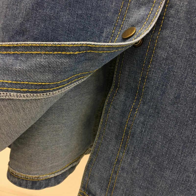 Женские весенне-летние новые темпераментные ретро дикие однобортные платья женские ампир Тонкий джинсовый ремень платье A298