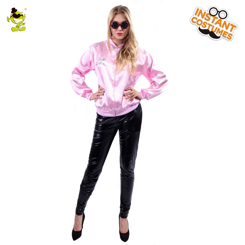 Pink Lady Retro Costumes Jacket Fancy Outfits Costumes For Party