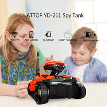 ATTOP YD-211 2018 New 828 Intelligent Robot Wifi FPV 0.3MP Camera Smart RC Robot Phone App Remote Control RC Tank RC Toys(China)