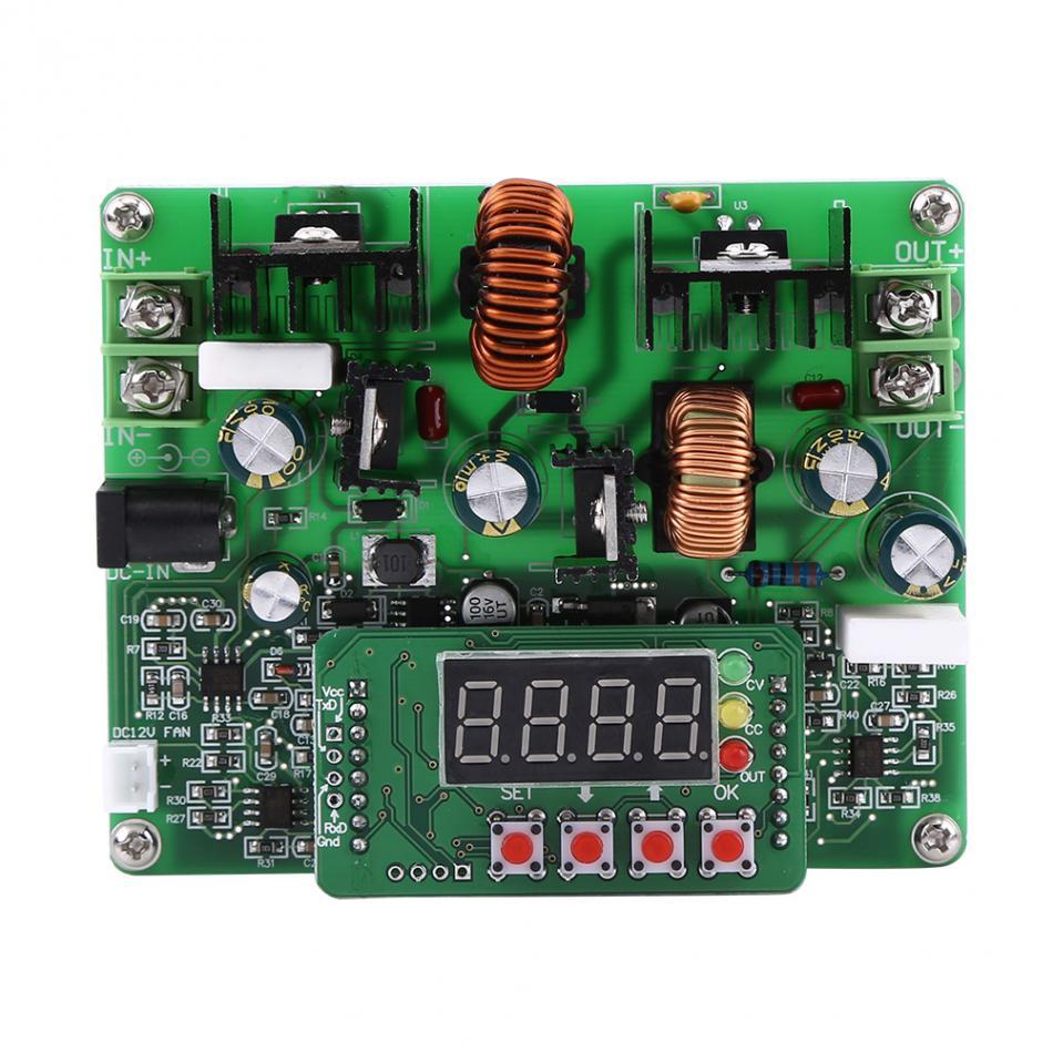 DC-DC Digital 2 In 1 Voltage Step-up Step-down Module Boost Adjustable Buck Converter Board 38V 6A