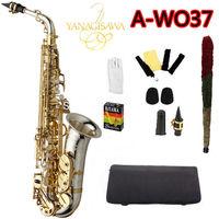 2018 New Japanese Yanagisawa Alto Saxophone A WO37 Eb Silver Nickel Plated Gold Key Sax