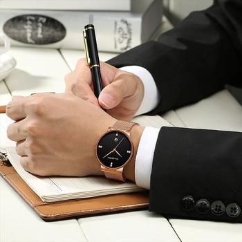 שעון יוקרה עם רצועת רשת 2020 לגבר