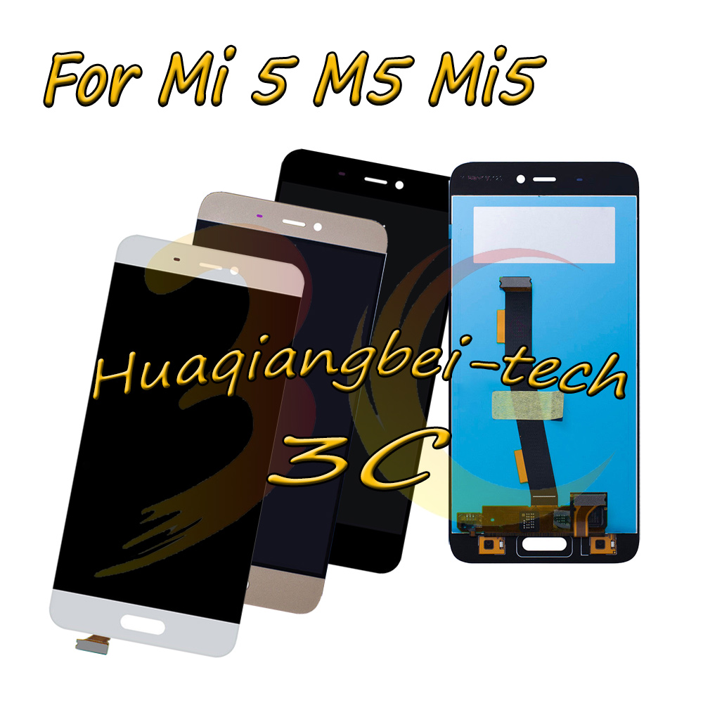 5.15 New For Xiaomi Mi 5 M5 Mi5 Full LCD DIsplay + Touch Screen Digitizer Assembly Black / White / Gold 100% Tested