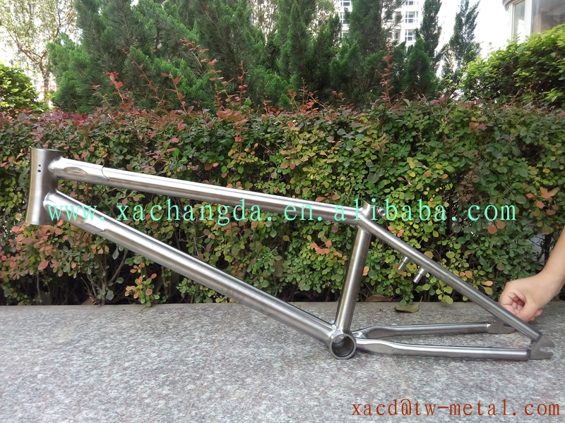 customize high quality titanium bmx bicycle frame xacd made titanium bmx bike frame hot sale titanium bmx frame