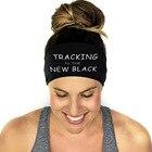 ✔  6 Цветов Спортивные Повязки Женщины Yoga Sweatband Тренажерный Зал Письмо Эластичный Повязка Для Вол ①