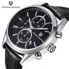 PAGANI Дизайн новые модные мужские часы Топ бренд класса люкс Большой циферблат черные кварцевые часы кожа водонепроницаемый хронограф часы д...