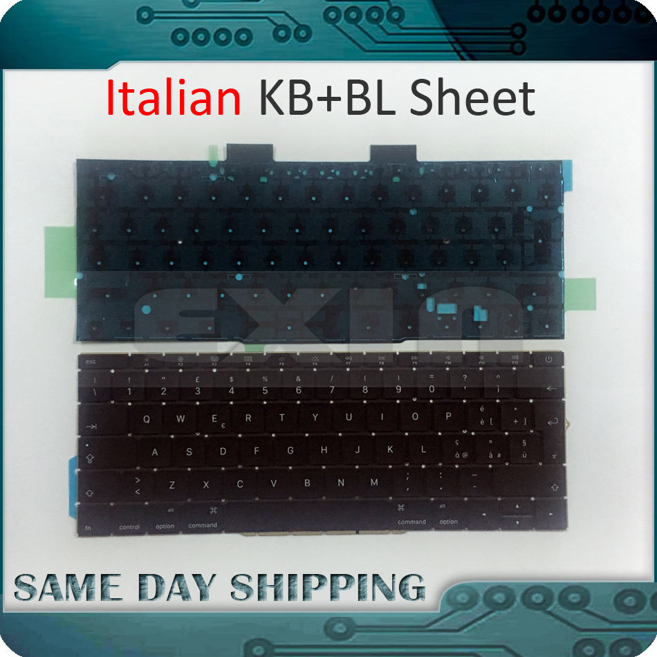 New A1708 Italian Italy Keyboard for Macbook Pro 13 Retina A1708 Keyboard w/ Backlight 2016 2017 EMC 2978 EMC 3164 MLL42 MPXQ2 early 2016year new original a1534 for macbook 12 a1534 sp spain spanish keyboard without backlight backlit emc 2991