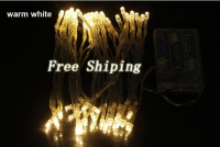 10M 80 LED Battery Power Operated LED String Lights Outdoor Waterproof For Christmas Holidays Wedding Decorations