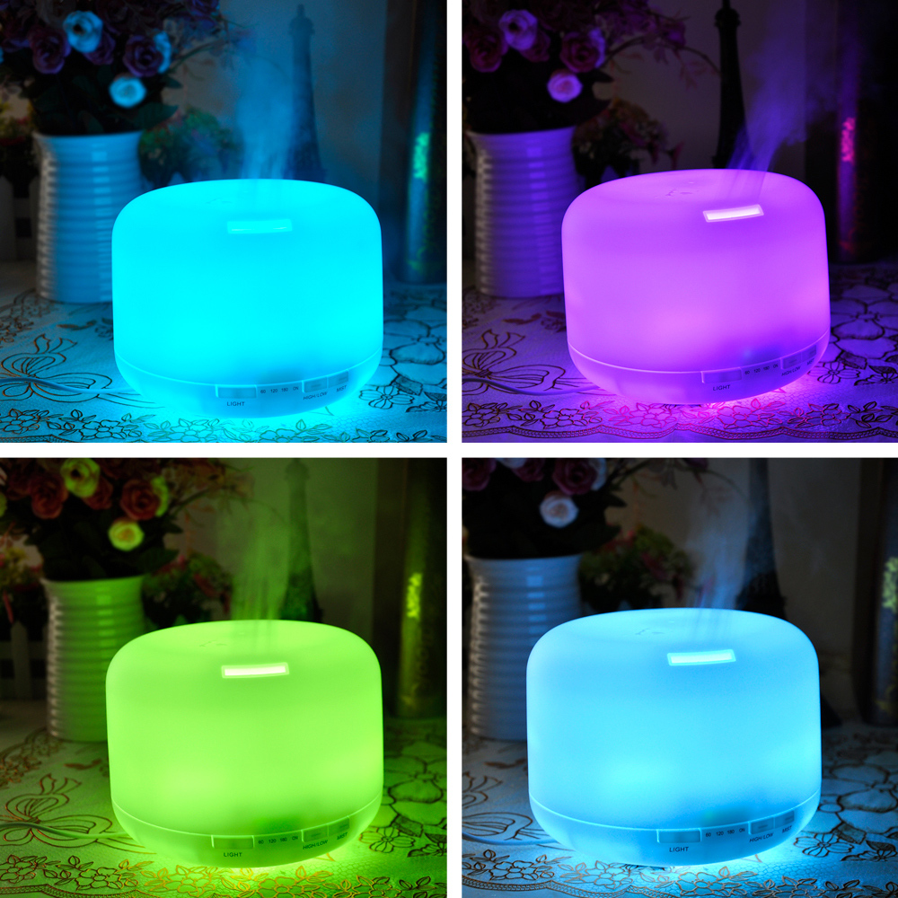 Led Light 300ml Ultrasonic Air Humidifier Essential Oil Diffuser Aroma Lamp Aromatherapy Electric Aroma Diffuser Mist Maker hot
