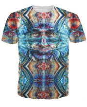 Women Men High Quality T Shirt Third T-Shirt 3d A Psychedelic Look And Even An Third Eye Tirppy Tees Short Sleeve S-5XL R2817
