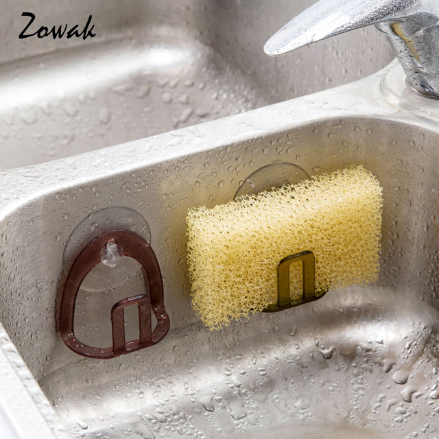 Kitchen Sink Suction Holder Sponges Scrubbers Soap Storage Rack Cup Sponge Bathroom Drying Toilet