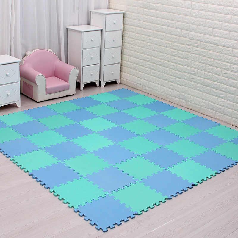 Meiqico для детей, eva пенопластовый игровой коврик/18 или 24/лот Блокировка упражнений плитка половик коврик для детей, каждый 29 см X 29 см