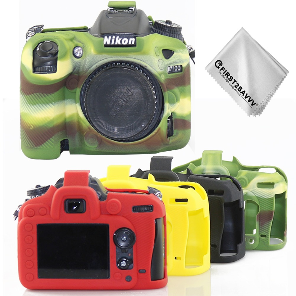 Top Texture Design Rubber Silicon Protective Case Body Cover Soft <font><b>camera</b></font> bag for For <font><b>Nikon</b></font> D7200 <font><b>D7100</b></font> Protector Frame Skin case image