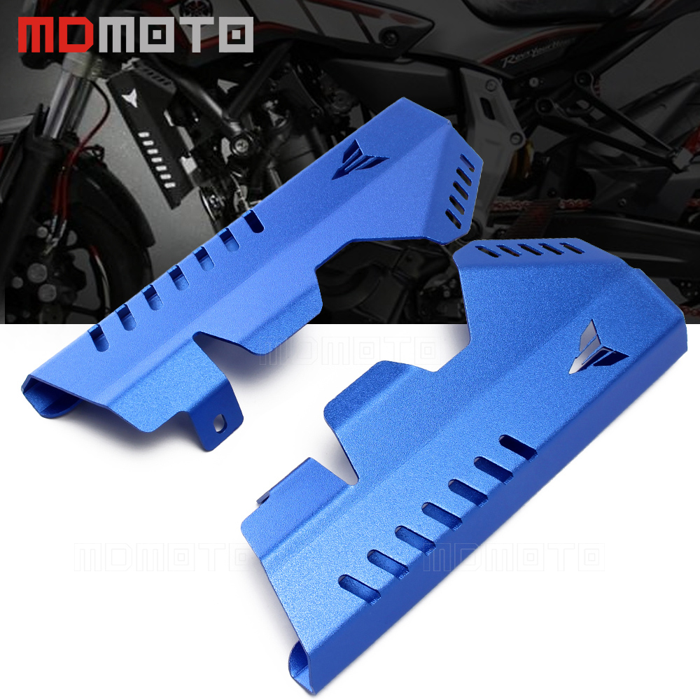 CNC Aluminum Motorcycle MT-07 MT07 FZ 07 Radiator Grille Side Cover Guard Protector For Yamaha MT 07 FZ07 FZ-07 2013 2014-2017 for yamaha mt 07 fz 07 mt07 fz07 2014 2016 motorcycle accessories cnc aluminum engine protector guard cover frame slider blue
