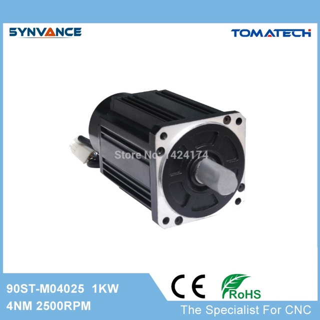 90st M04025 90mm 1kw 2500rpm 4nm High Cost Effective Ac Servo Motor For