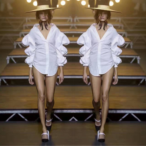 2017 sexy women blouses,white shirt for women,amazing V neck lantern sleeve design blouse,elegant women blusas crop tops sashes