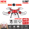 2016 SYMA X8HG SYMA X8G RC Quadcopter 2.4G 6-Axis Profissional Drone with 8MP Camera HD RC Helicopter Vs MJX X101 Syma X8 X8C X8