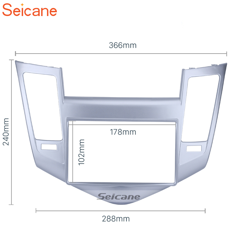 Seicane Silver 178*102 mm Double Din Car Radio Fascia Frame Refitting Trim Kit Panel For Chevrolet Cruze 2009 2010 2011 Seicane Silver 178*102 mm Double Din Car Radio Fascia Frame Refitting Trim Kit Panel For Chevrolet Cruze 2009 2010 2011