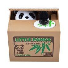 PHFU Cute Panda Кража Монета Кошка Копилка Копилка