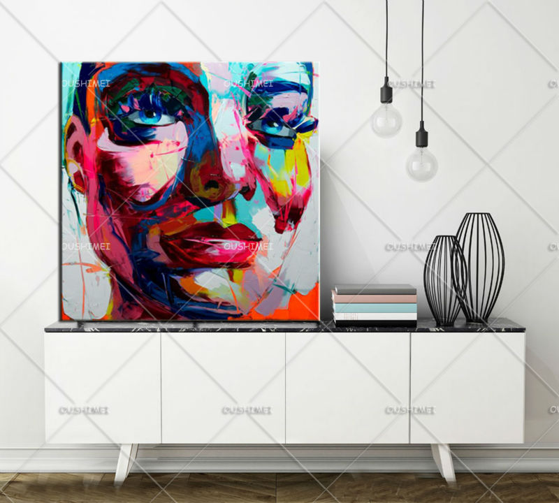 Handmade Painting Modern Woman Portrait Painting Man Face Painting