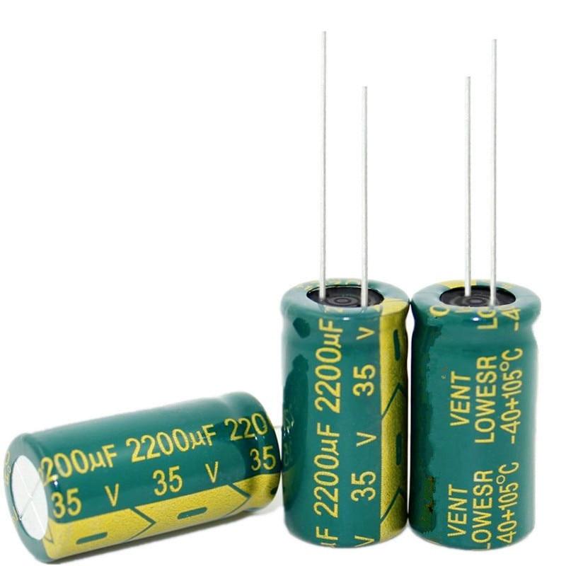 2,200uF 16V Radial Aluminum Electrolytic Capacitors Panasonic Lot of 25