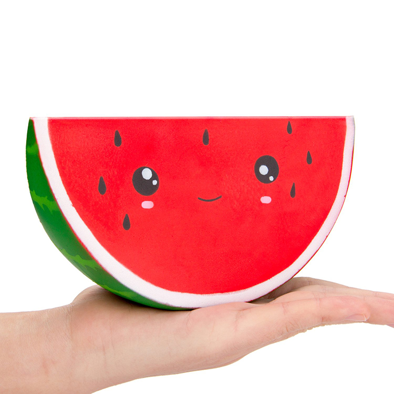Jumbo Kawaii Watermelon Squishy Simulated Fruit Slow Rising Bread Scented Squeeze Toy Stress Relief For Kid Xmas Gift