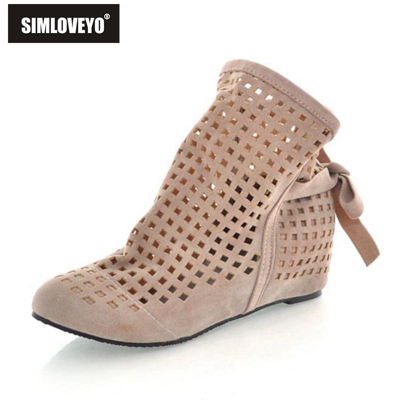 Aliexpress.com : Buy SIMLOVEYO Women summer boots Cut out